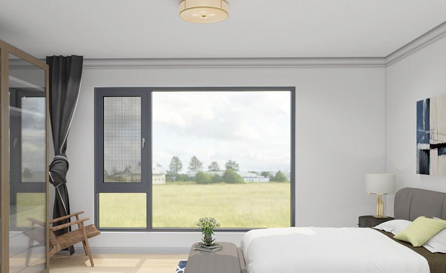 奥斯陆系列窗纱一体平齐平开窗