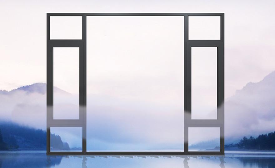罗拉格系列窄边窗纱一体外开窗